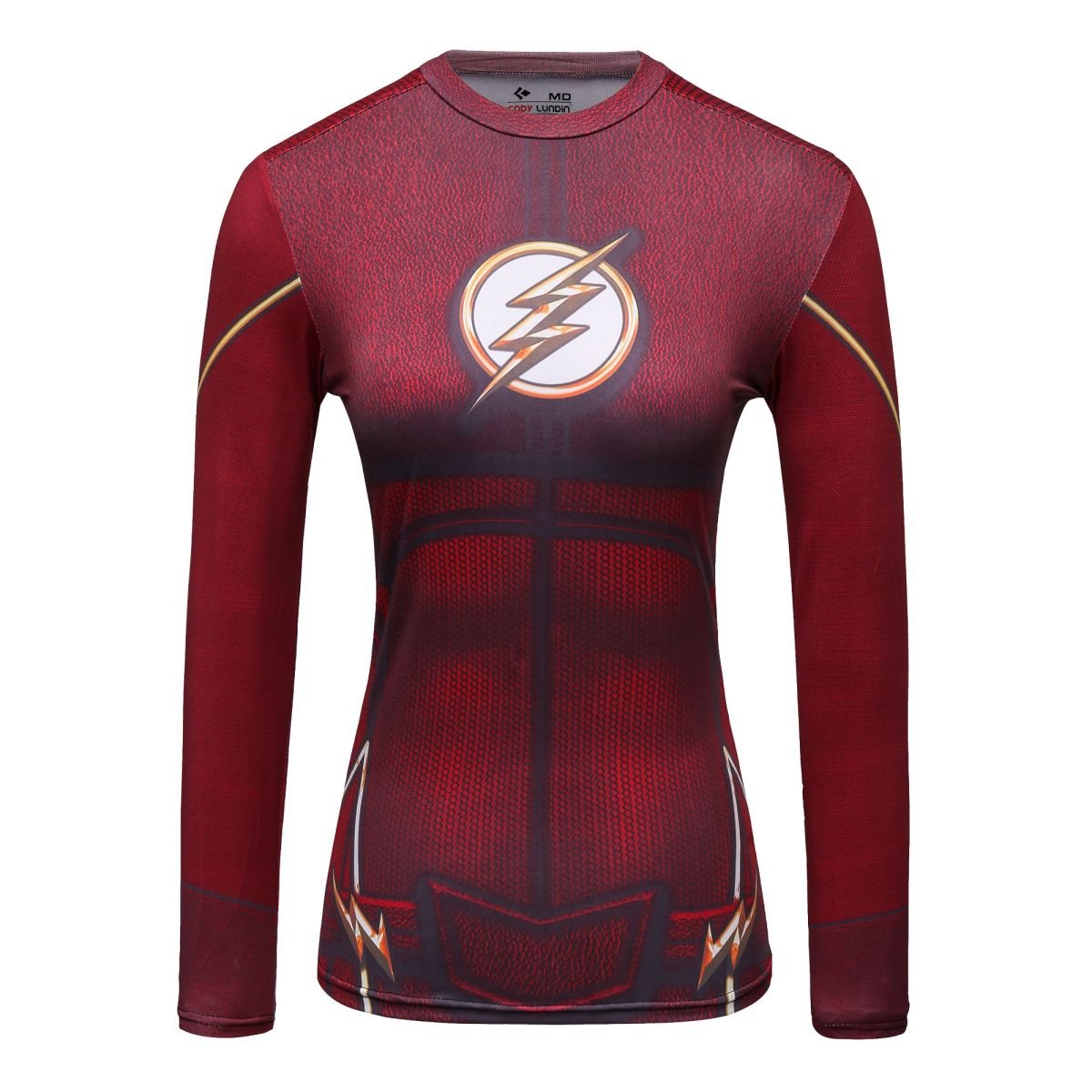 Cody Lundin Woman's Movie Theme Print American Lightning Hero Running Sport Fitness T-shirt Exercise Tights Longsleeve Top