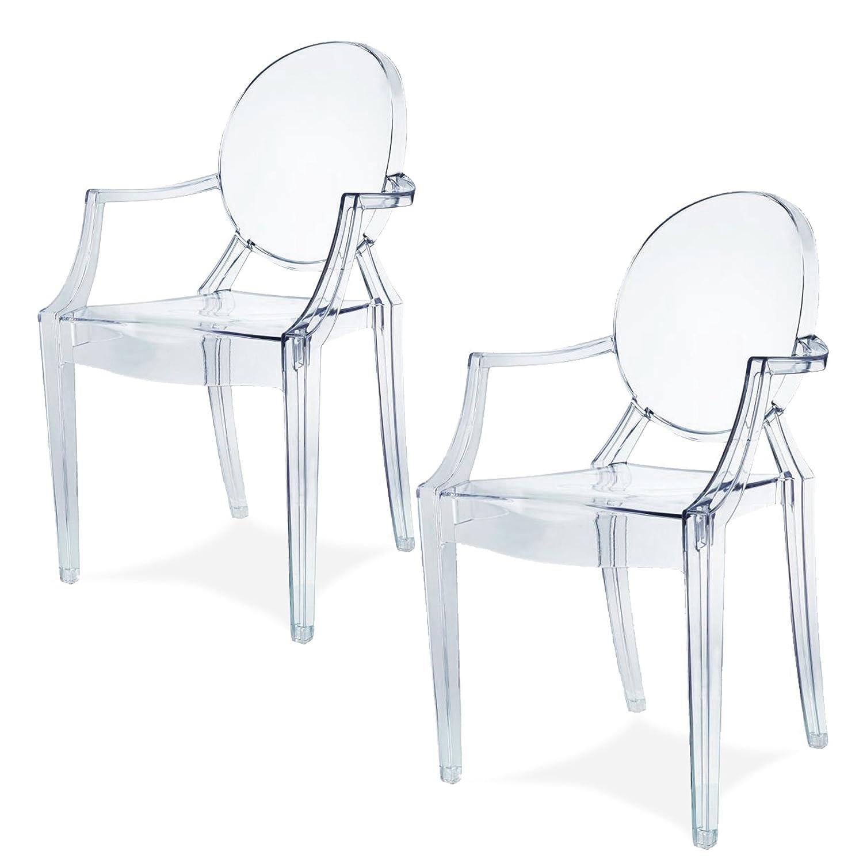 Damiware Spirit Eszzimmerstühle 2er Set | Design Stuhl mit Armlehnen ...