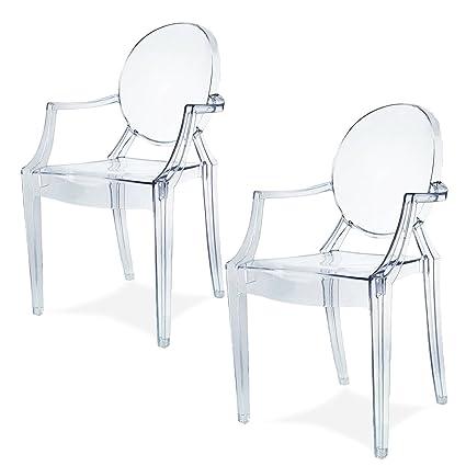 Spirit trasparente Ghost sedia per sala da pranzo, poltrona design ...