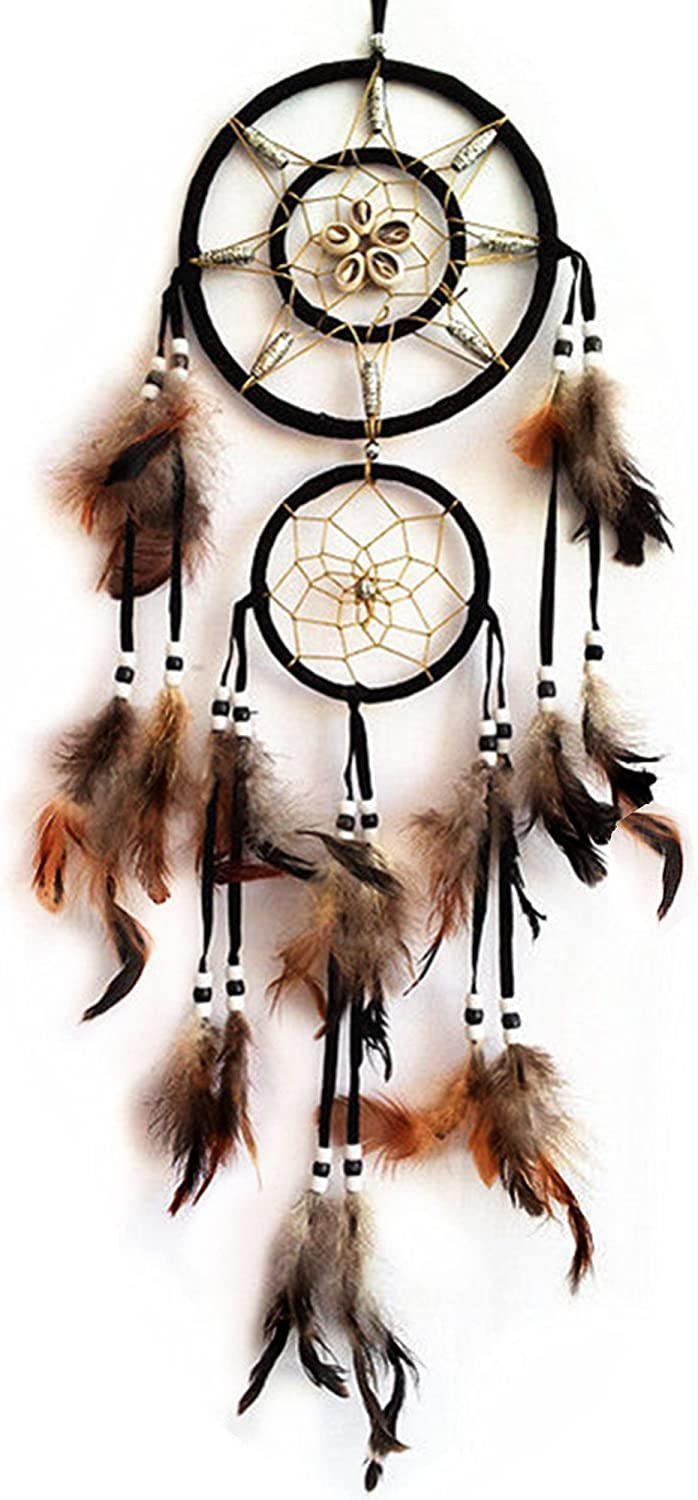 Betterdecor Handmade Dream Catcher with Feathers Wall Hanging Home Decor Ornament (Gift Bag)