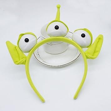 Amazon.com: zmvise verde Monster diadema fiesta globo ocular ...