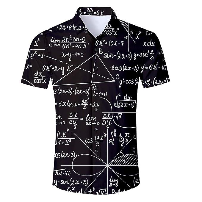 Matemáticas 3D Imprimir chándal Conjunto Corto de Camisas y