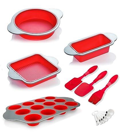 Moldes Para Hornear de Silicona, Y Utensilios (Paquete de 13) de Boxiki Kitchen | Molde Para ...