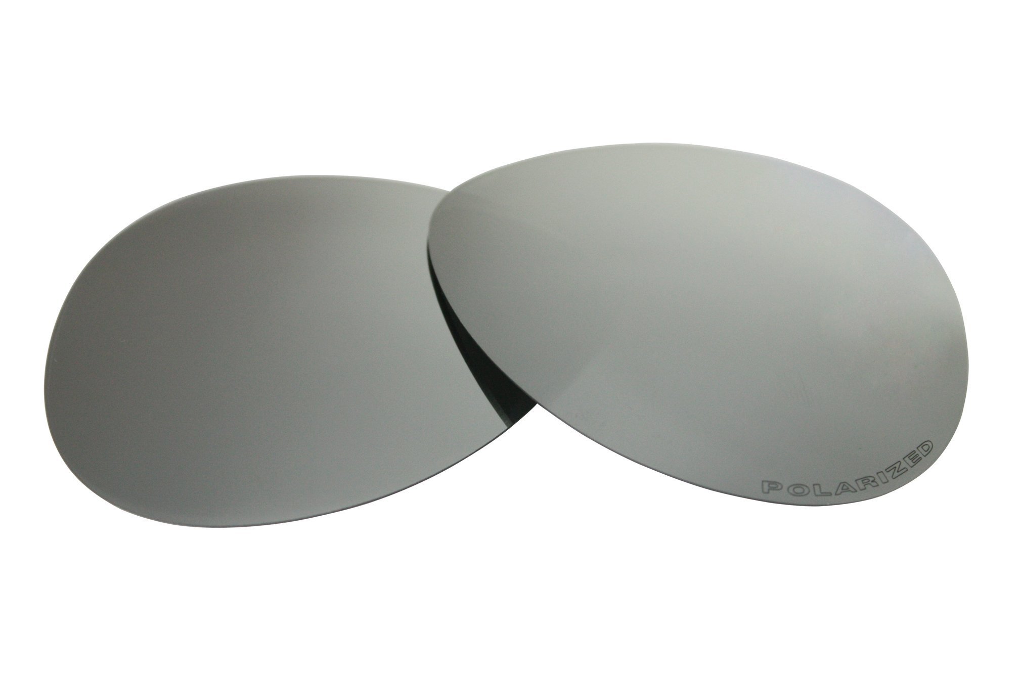 Polarized Replacement Sunglasses Lenses for Oakley Caveat Aviator with Excellent UV Protection for Women(Titanium)