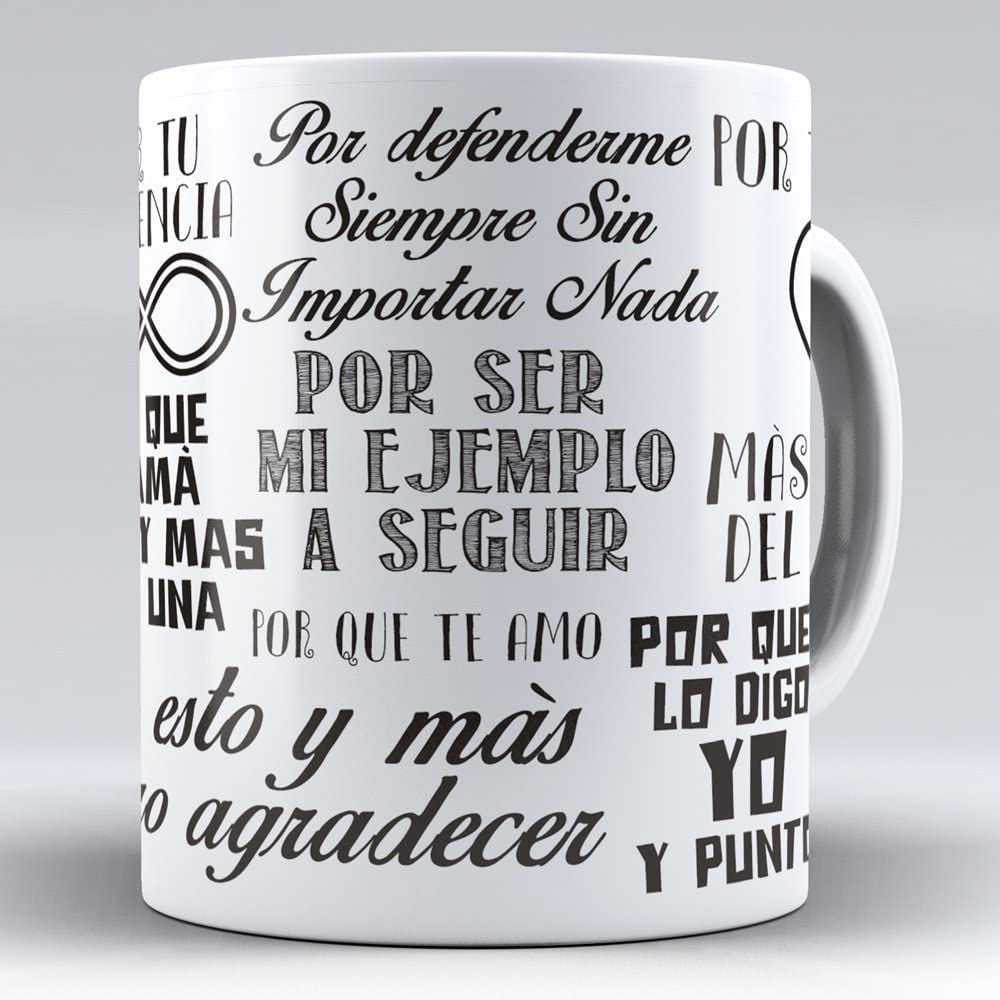 APRIL Nueva Taza cerámica Desayuno Regalo Original día de la Madre para mamá Frases para Decir a una Madre