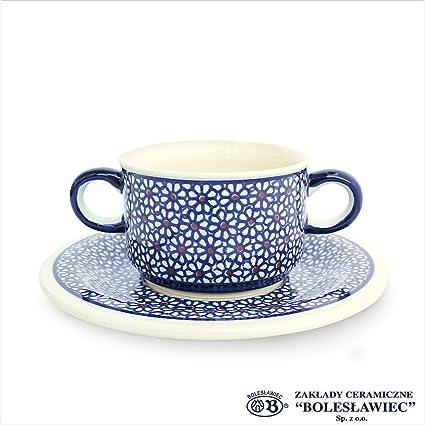 a929f2e316a1 Zaklady Ceramiczne Boleslawiec/ザクワディ ボレスワヴィエツ陶器スープボウル&ソーサー-120