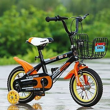 YoYodress Bicicletas infantiles Bicicleta para niños con ruedas de apoyo De 2 a 8 años (12 de 14 a 16 pulgadas) (naranja, 12): Amazon.es: Deportes y aire ...