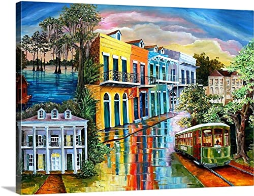 Bayou to The Big Easy Canvas Wall Art Print