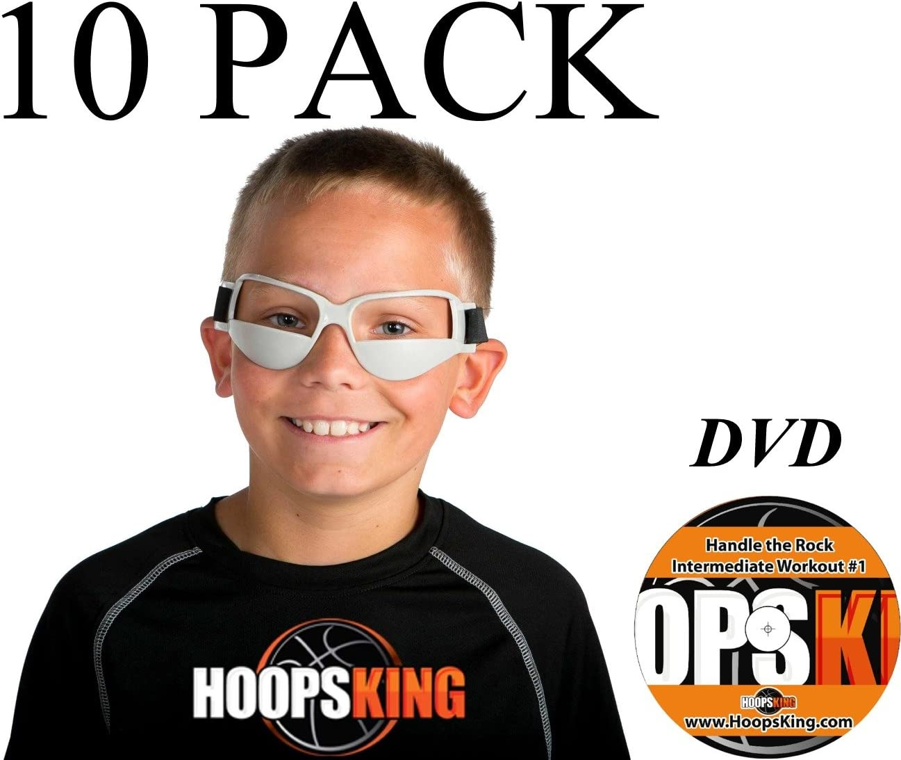 Amazon.com : HoopsKing Basketball Dribble Goggles 10 Pack Plus Workout DVD : Sports & Outdoors