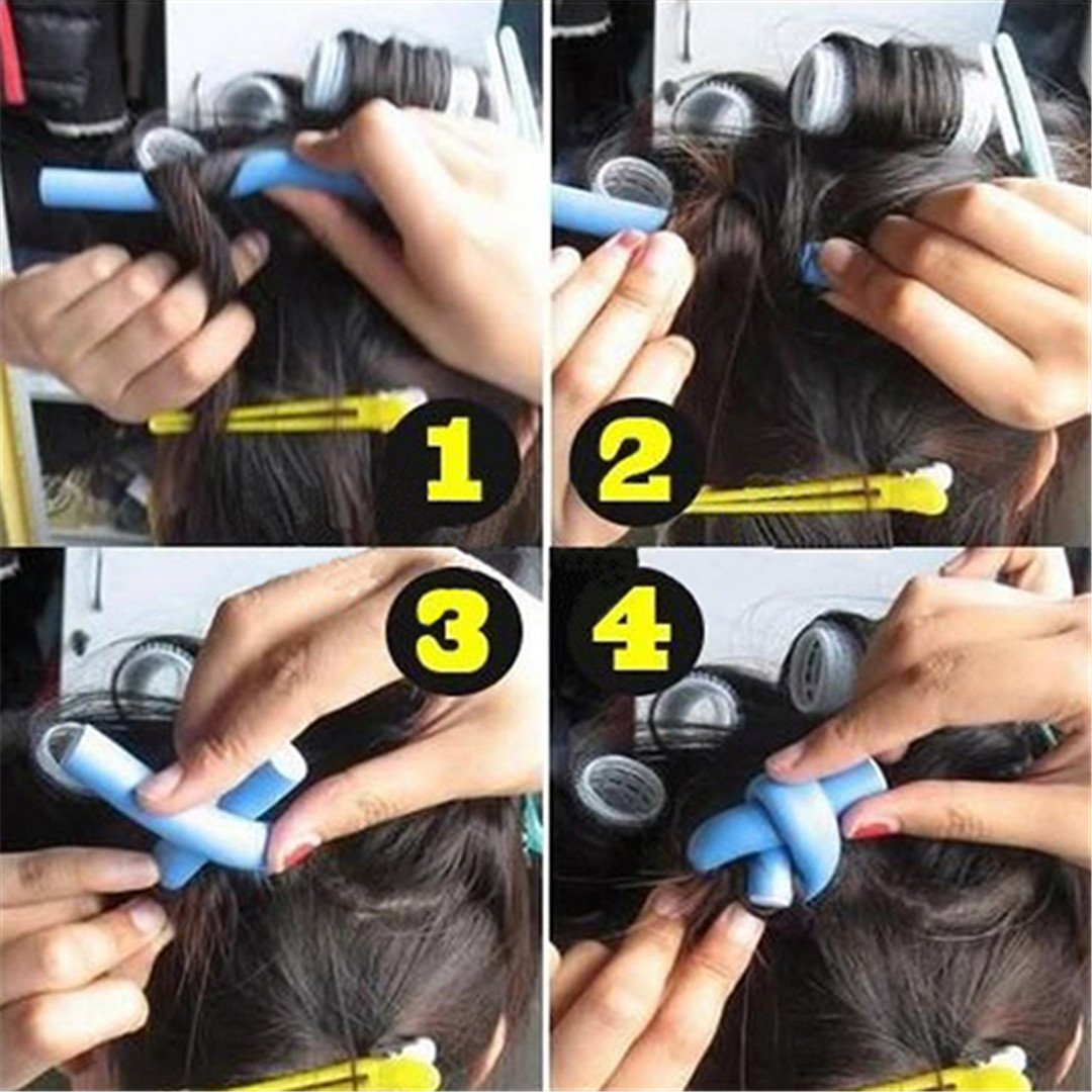 10 Pcs Soft Foam Curler Sticks DIY Hair Design Curl Roller Tool by HAHUHERT (Image #5)
