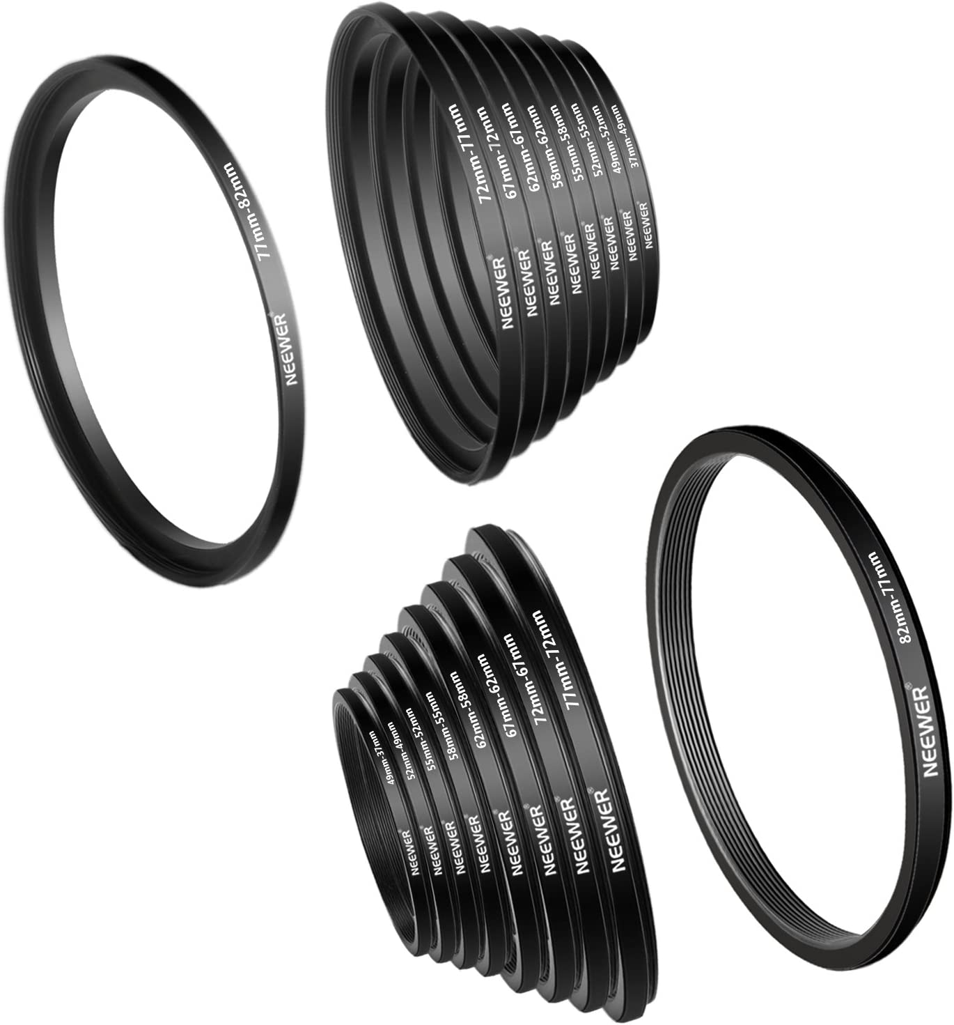55 mm Filter Adapter Step-Up Adapter Filteradapter Step Up 52-55 52 mm