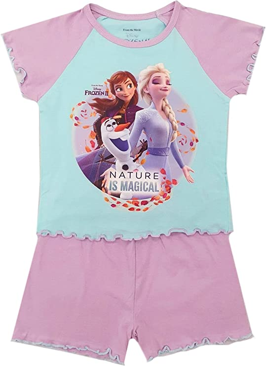Pijama corto para niñas Frozen Disney Elsa Anna