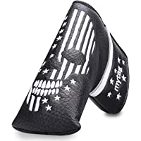 caiobob mytag Golf Skull Skeleton Magnetic Closure Putter Headcovers Embroidery Style fits Standard Blade Putters