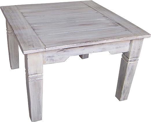 Guru-Shop Mesa de Centro Cuadrada Blanca Antigua - Modelo 6 ...