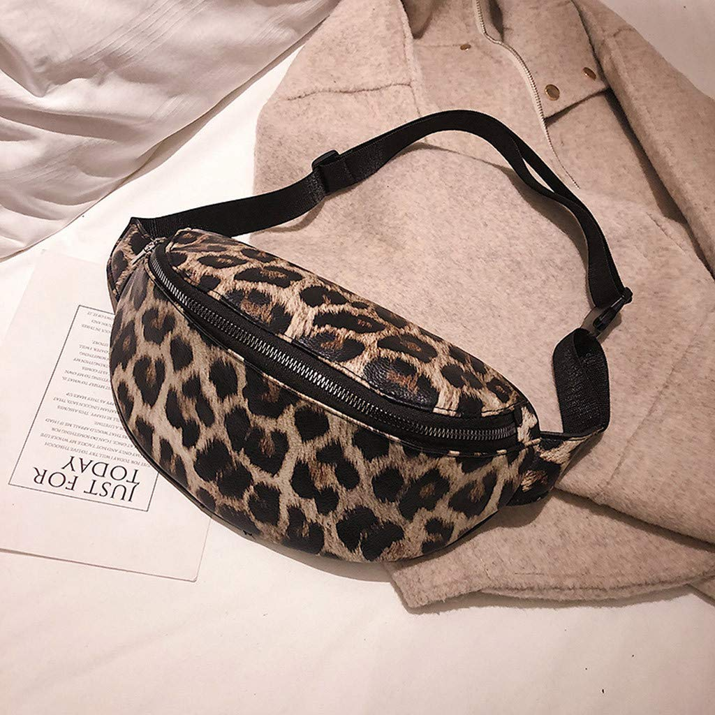 Amazon.com: Fashion Leopard Print Fanny Pack Waist Pack Bum Bag Belt Bag Chest Bag for Cell Phone Purse: Shoes