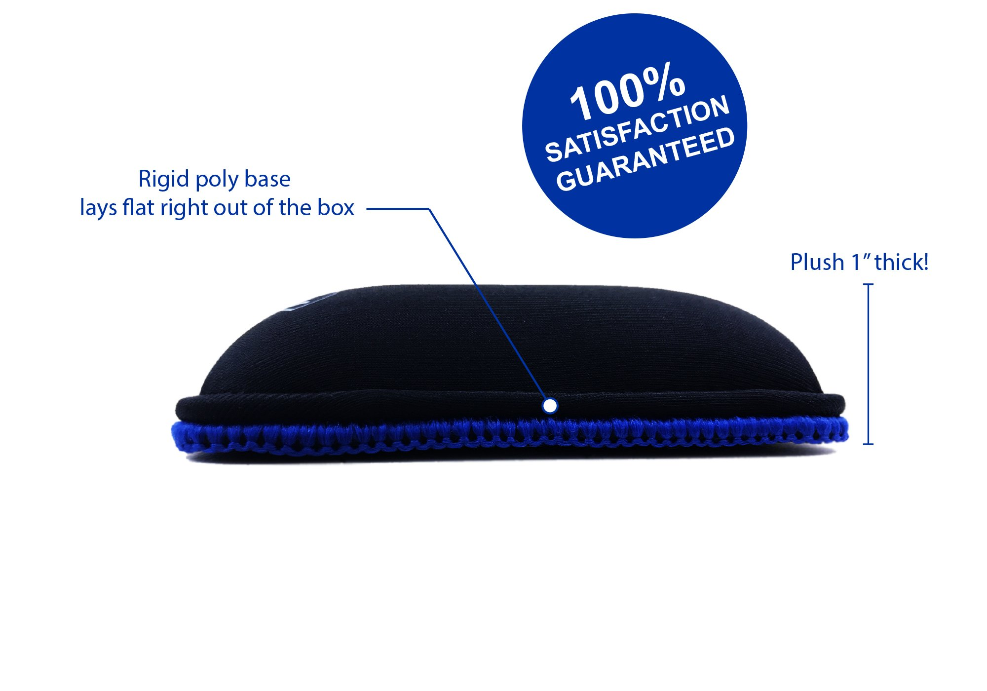 "XL Keyboard Wrist Rest/Wrist Pad, TENKEYLESS 14.5"" Long x 4"" Wide x 1"" Thick Padded Water Resistant, Ergonomic Memory Foam Gel, Anti-Fray Stitched Edges, Anti-Slip Rubber Base, Black | by Metratonic by Metratonic (Image #4)"