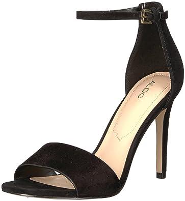 96b49e1d8933 ALDO Women s FIOLLA Heeled Sandal Black Suede 8 ...