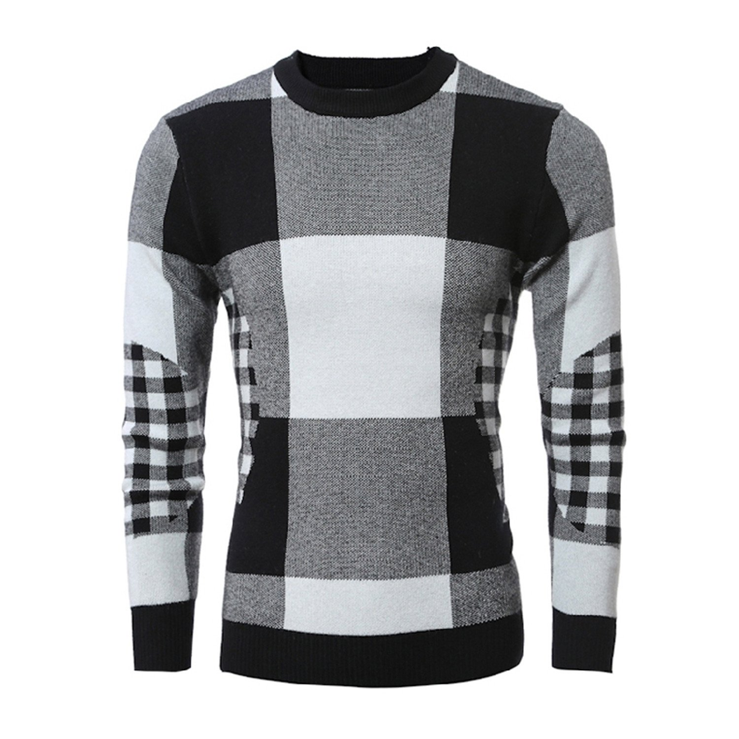 Feilongzaitianba Casual Sweater O-Neck Striped Knitting Mens Sweaters Pullovers Men Pullover Men