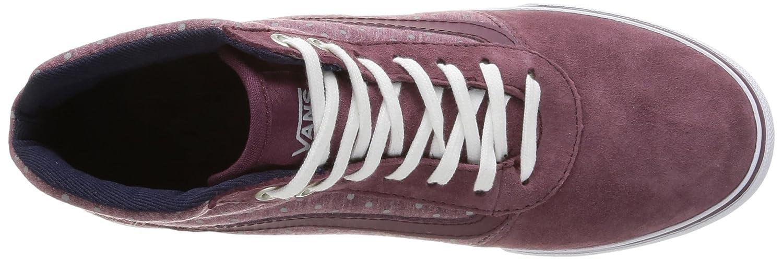 Vans Milton Damen Damen Milton Sneakers Rot (Suede/Wine/Gray) ddeec5