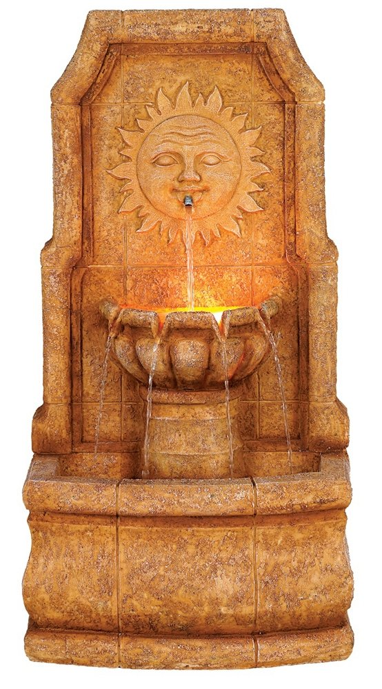 Sun Villa Faux Stone 37''H Outdoor Fountain with LED Lights by John Timberland