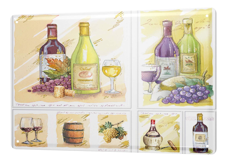 Blechschild Alkohol Retro Champagner Bar Kneipe Restaurant