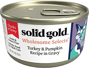 Solid Gold Chunks in Gravy Wet Cat Food; Wholesome Selects with Real Poultry, 24 ct/3 oz (Previously Solid Gold Savory Feast, Dawn's Sky & Sunrise Delight)