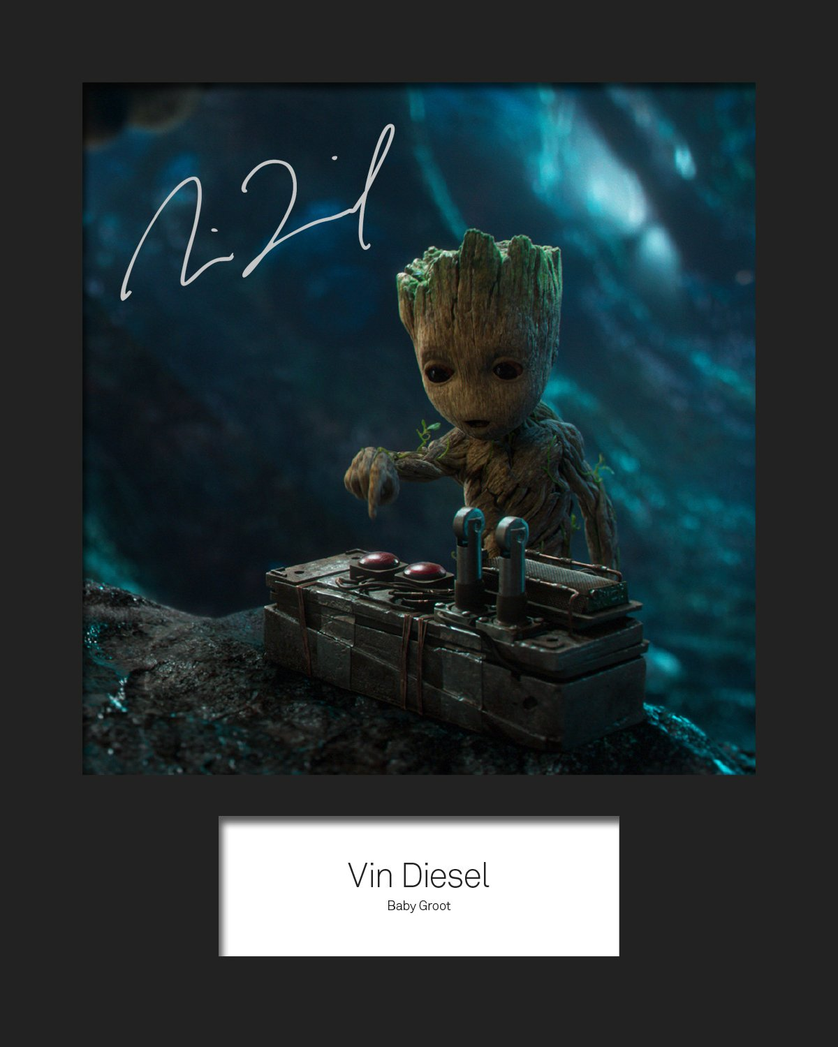 Guardians of the Galaxy Vol 2, Vin Diesel, Baby Groot # 3  Signiert Foto 10  x 8  drucken FRAME SMART