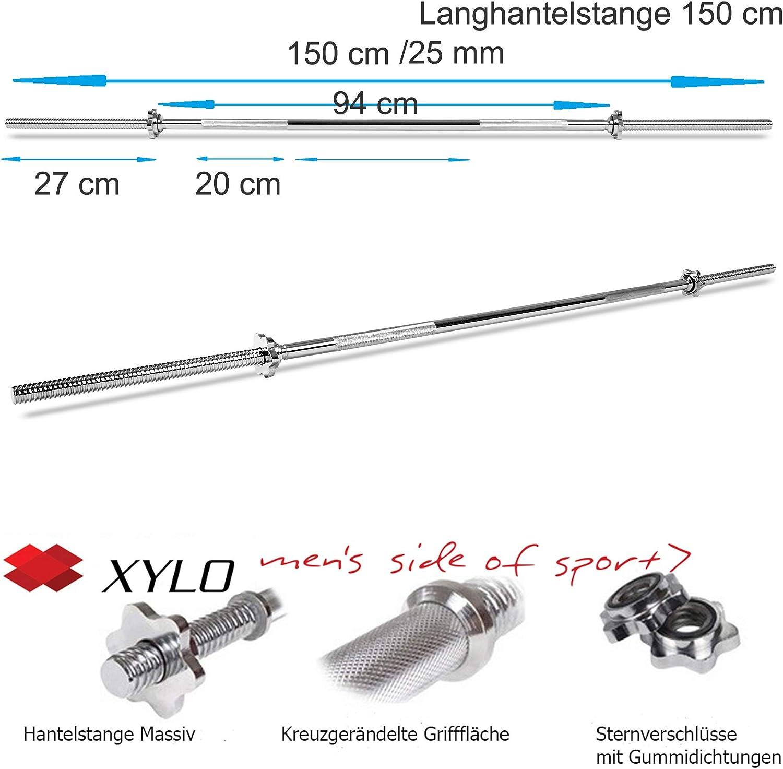 120 cm Curl Hantelstange 27 mm Diameter Collars Included