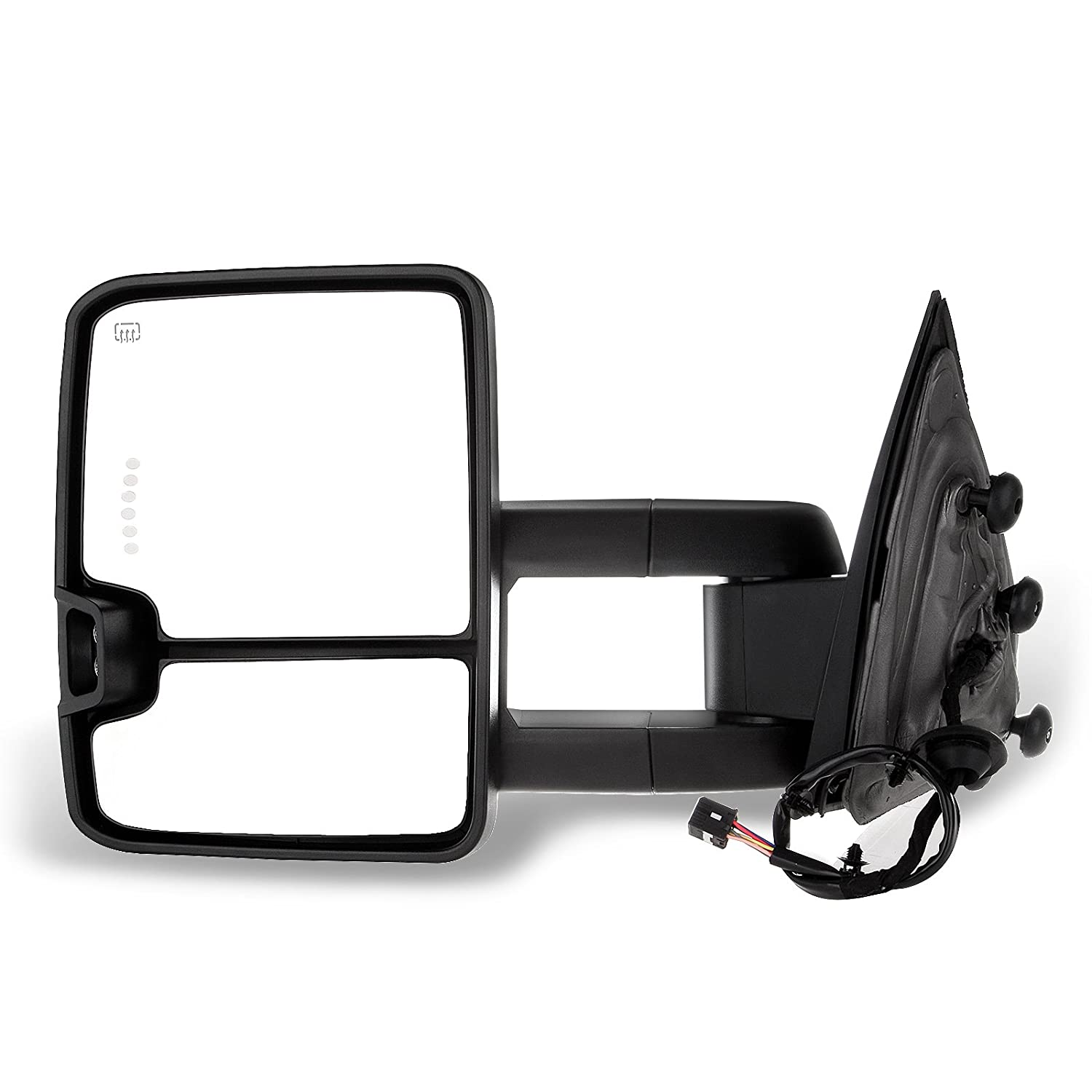 SCITOO fit Chevy GMC Towing Mirrors Chrome Rear View Mirrors fit 2014-2018 Chevy Silverado//GMC Sierra 1500 2015-2018 Chevy Silverado//GMC Sierra/2500 HD 3500HD with Power Heated Signal Backup Light