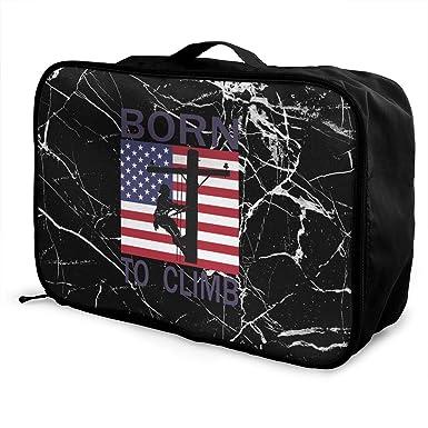 Born To Climb Lineman Men s Women s Travel Duffel Bag Large Capacity  Portable Luggage Bag 2632231da9709