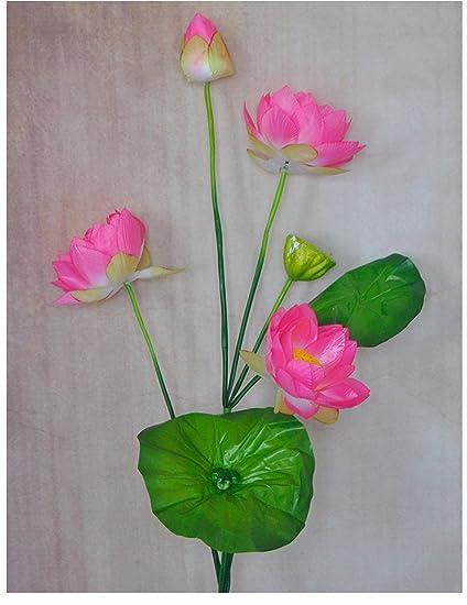 gk-il flor de loto Bonsai collocati largo Acuario atterraggio 117 cm 4 Branch