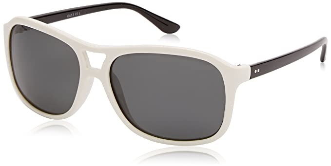 Sunoptic Lunettes Pilote Homme - Blanc - Blanc - FR : Taille unique (Taille fabricant : One Size) A5zL93Mw