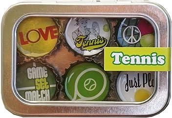Kate Grenier Designs Tennis Bottle Cap Magnets