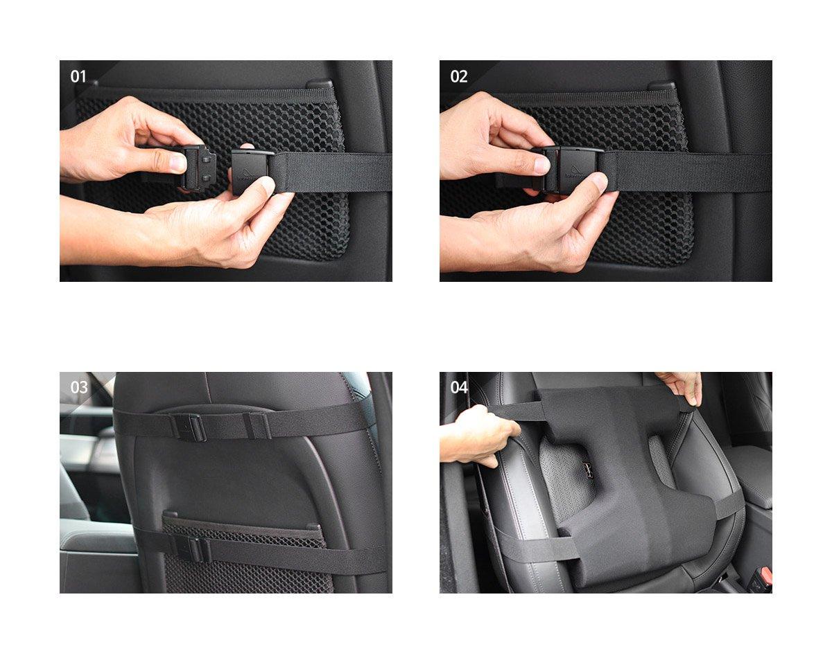 Balance Code Premium Back Stress Relief Chiropractic Driving Car Seat Cushion Black