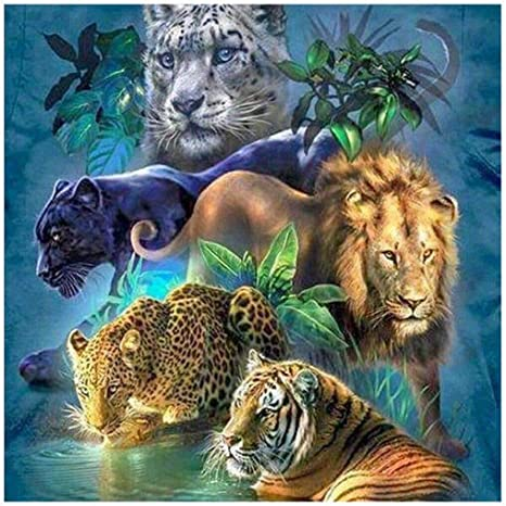 Tiger DIY 5D Diamond Embroidery Painting Animal Cross Stitch Home Decor Craft