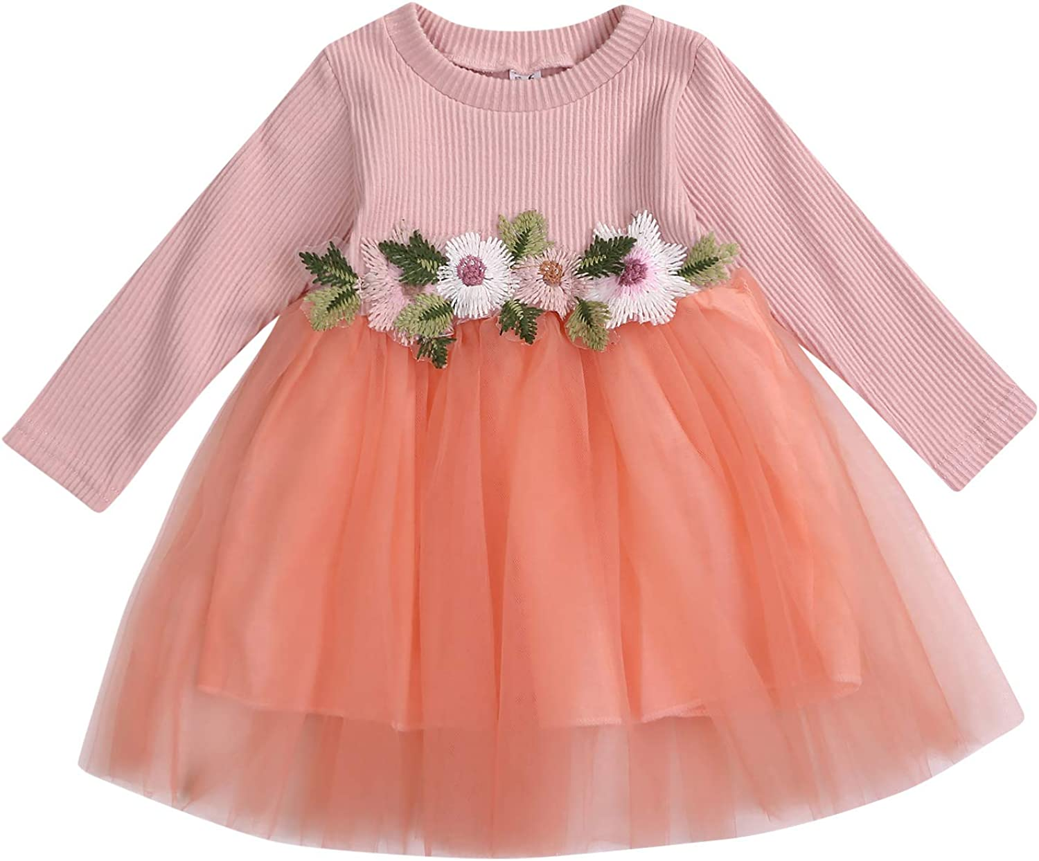 Toddler Baby Girls Party Dress Knitting Tulle Cap Lace Princess Tutu Wedding Skirt Outfit