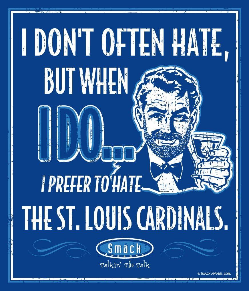 Smack Apparel Kansas City Royals Fans I Prefer to Hate The St Louis Cardinals 12 X 14 Metal Man Cave Sign