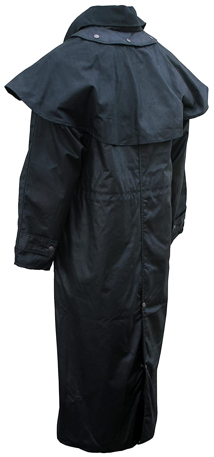 Duster Long Coat Outback Trail by Foxfire Oilskin Oilcloth Waterproof Drover