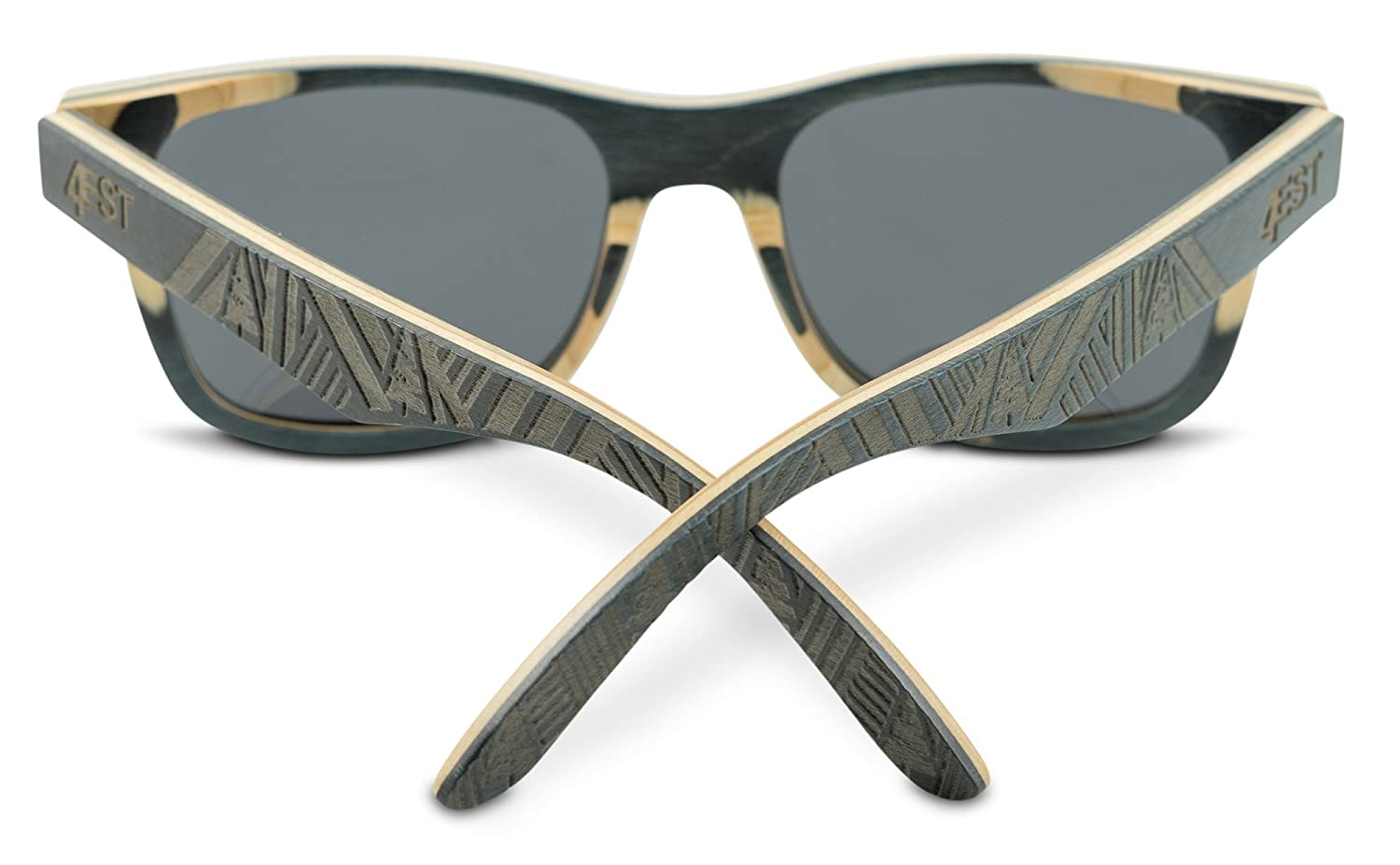 b73b7f4a795 Amazon.com  Wood Sunglasses made from Maple -100% polarized shades that  float  Clothing