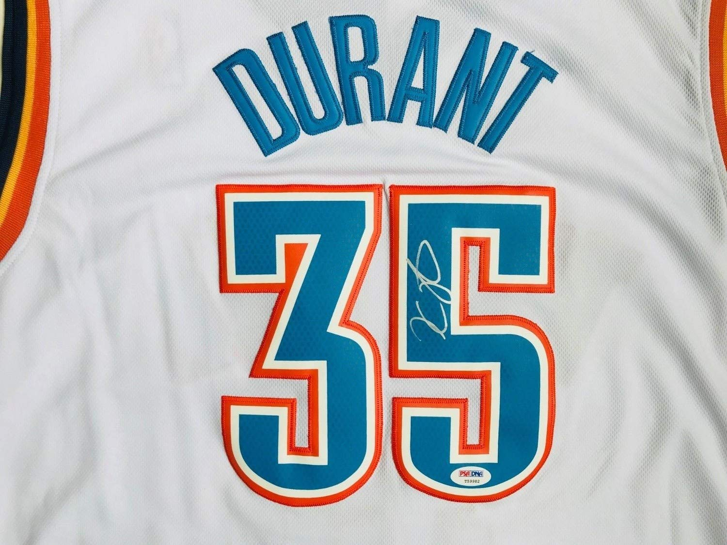 buy popular 58915 c974a Kevin Durant Autographed Signed Memorabilia Oklahoma City ...