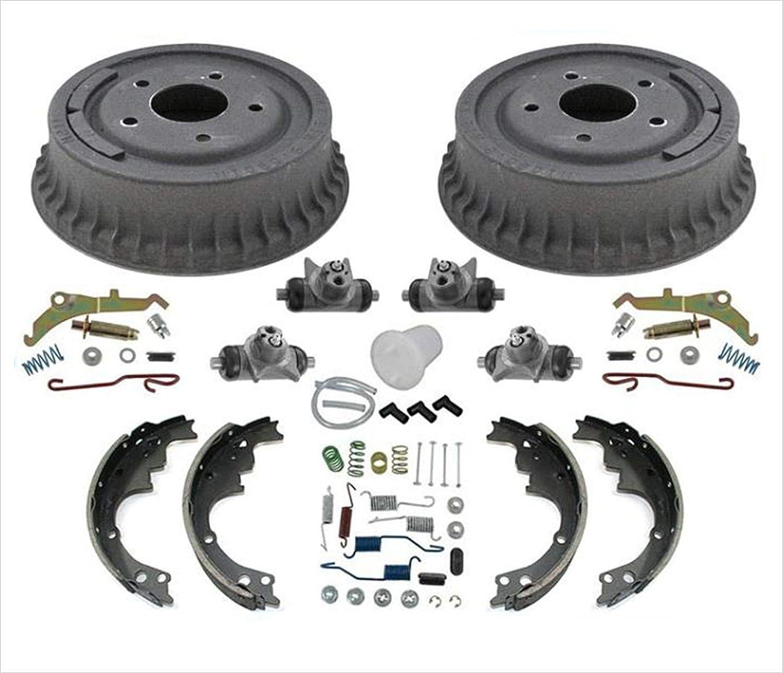 New Brake Drums Brake Shoes Springs 11pc Kit For Chevrolet Camaro 1985-1992