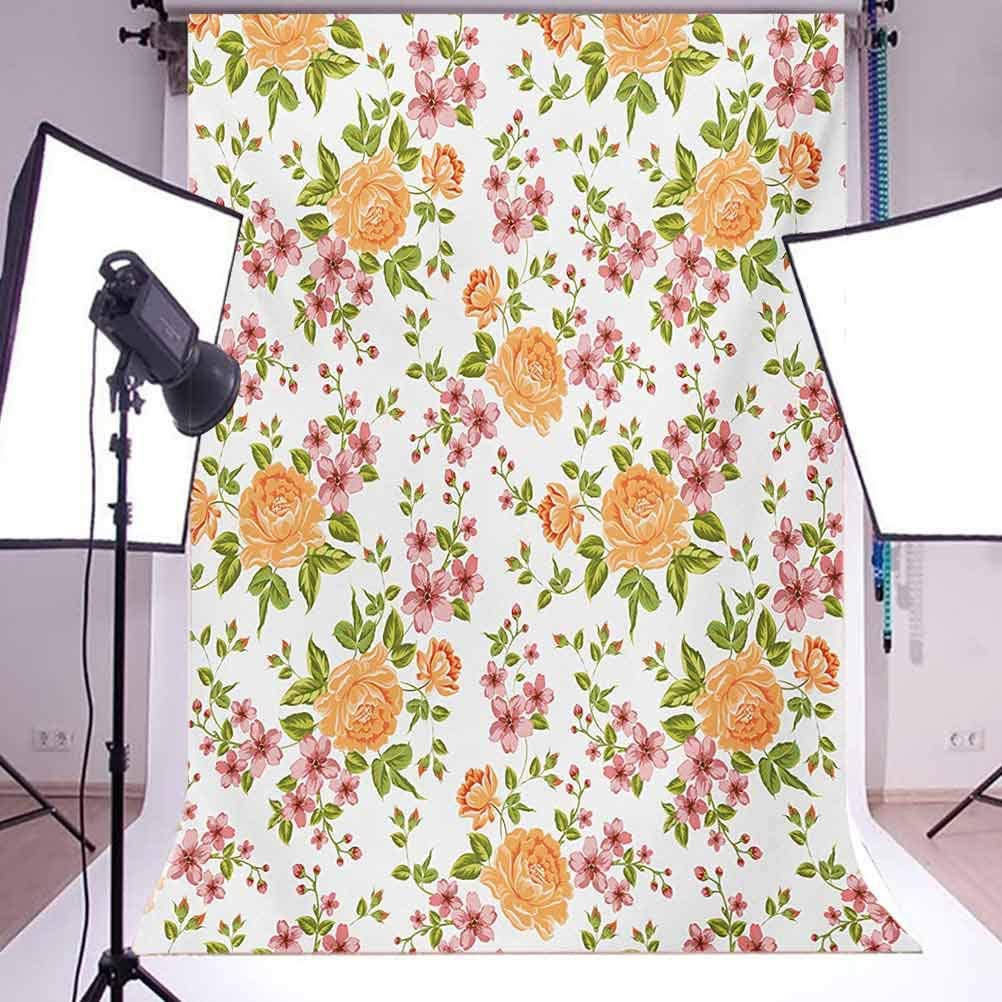 8x10 FT Backdrop Photographers,Abstract Floral Ornamental Framework Detail Grunge Background Traditional Design Background for Photography Kids Adult Photo Booth Video Shoot Vinyl Studio Props