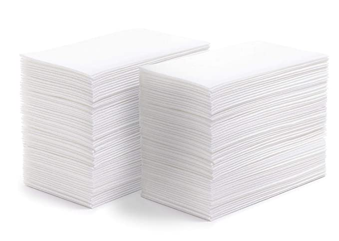 Amazon.com: SOFTER Hand Towels | Guest Napkins | Disposable Dinner Napkins | Linen Feel Wedding Guest Towels White - Absorbent - Durable - Paper Hand Towels ...