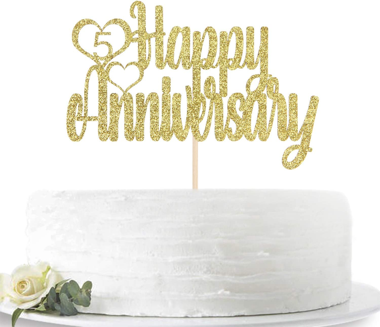 Anniversary Decorations 5th Birthday Party Five Cake Topper
