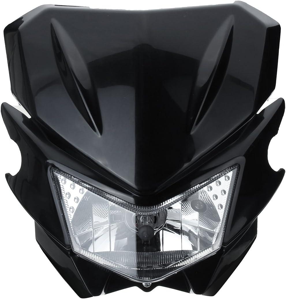 Bleu Alamor R/étroviseur Lat/éral Moto Pour Yamaha Honda Suzuki Kawasaki