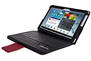 IVSO - Funda con teclado Bluetooth y soporte para tablet Samsung Galaxy Note 10.1 N8000 N8010 [teclado inglés] negro: Amazon.es: Electrónica