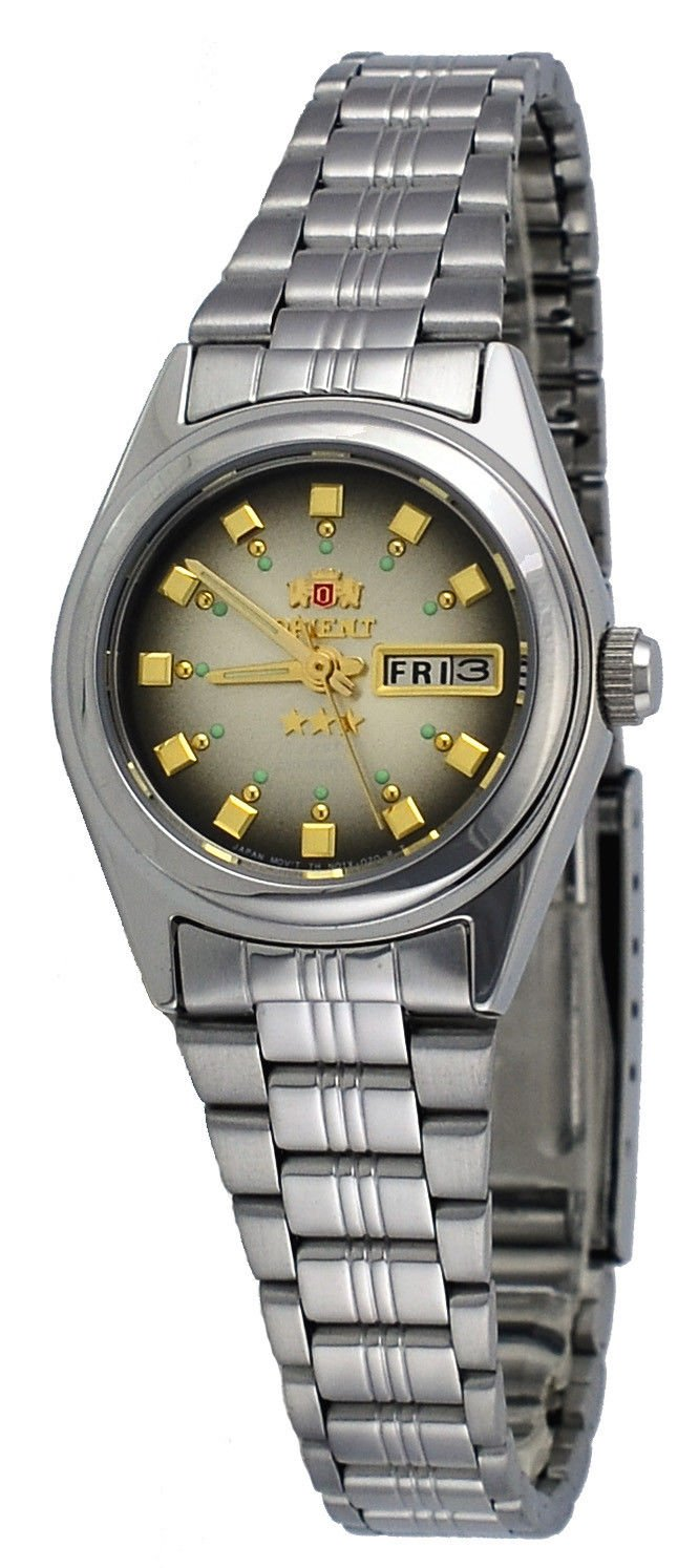 FNQ1X003X Women's 3 Star Stainless Steel Brown Dial Day Date Automatic WatcX