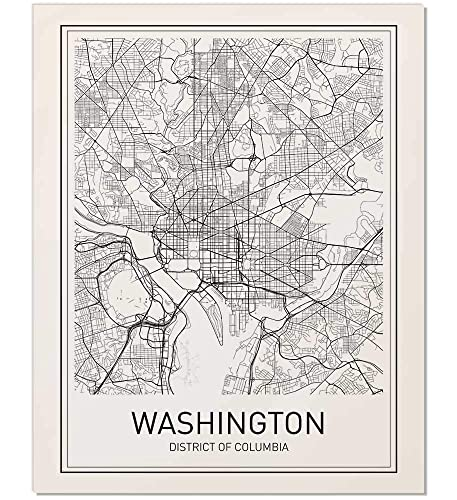 photo regarding Washington Dc Printable Map named Washington DC Map, Washington DC Poster, Washington Map Print, Metropolis Map Posters, Washington Map, Minimalist Poster, Map Wall Artwork, Progressive Map Artwork,