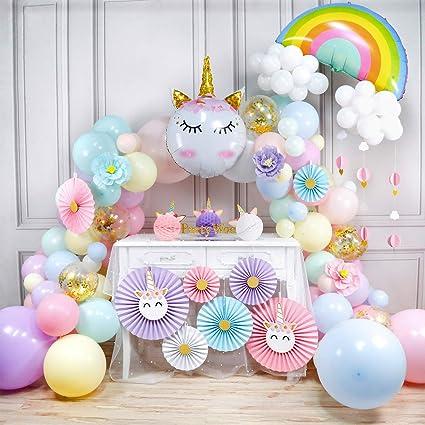 Amazon.com: PartyWoo Kit de guirnalda de globos de unicornio ...