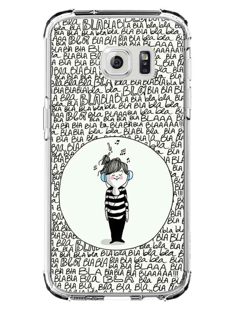 Samsung S7 Back Cover - Listen Music - Don?t Listen Bla